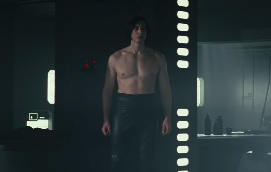 There's finally *real* footage of shirtless Kylo Ren on the internet, and what a time to be alive