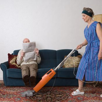 Retired women apparently spend more time doing housework than men, and huh, you don't say!
