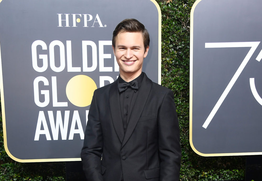 Ansel Elgort once posed as the Easter Bunny for a high school calendar