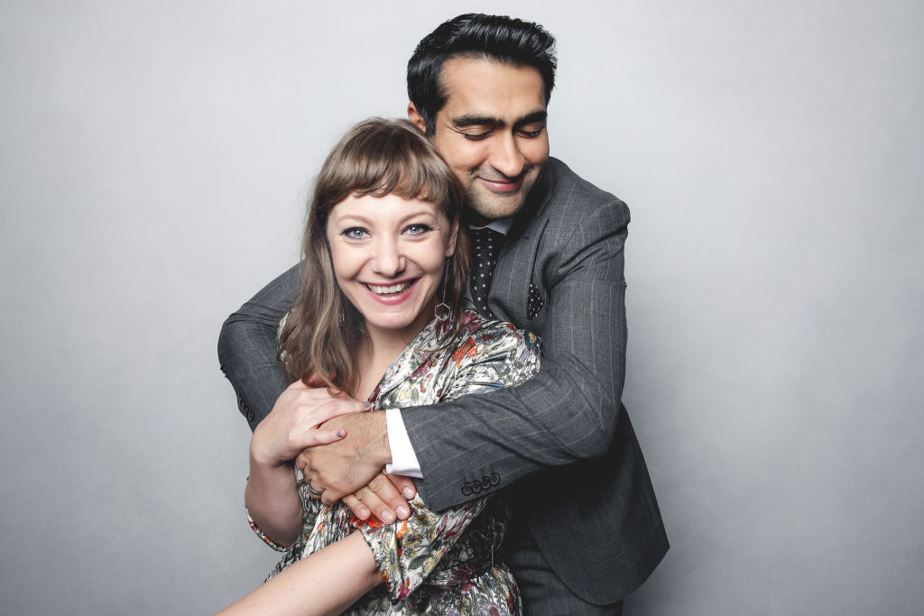 "Kumail Nanjiani spoke out against a headline that referred to Emily V. Gordon as merely ""his wife"""