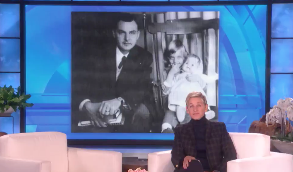 "Ellen DeGeneres opened up about the death of her father: ""There was a rainbow"""