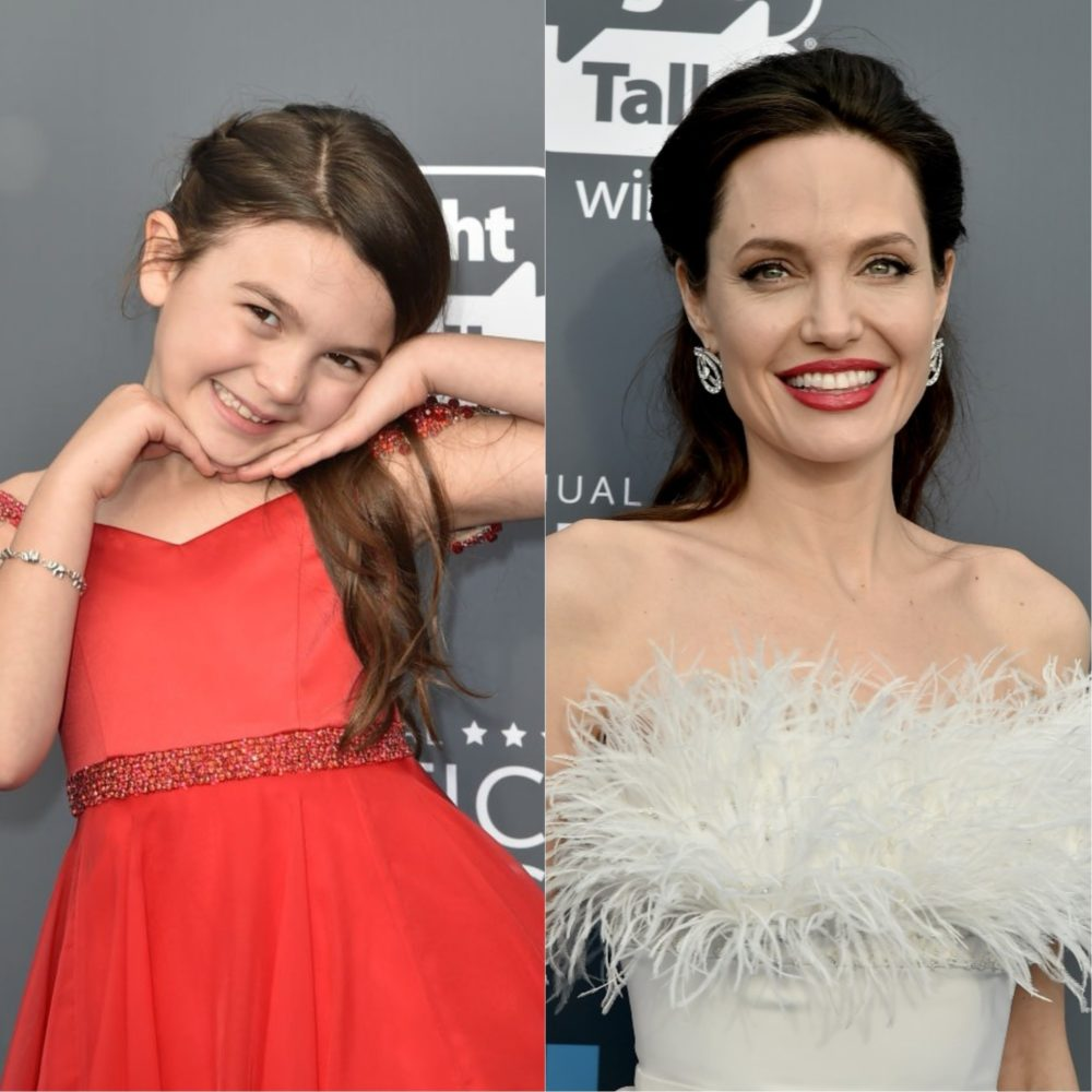 "Angelina Jolie and the young ""Florida Project"" actress shared a sweet BTS moment at the Critics' Choice Awards"