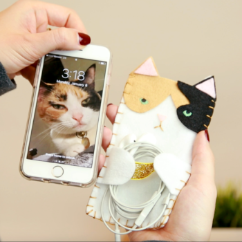 Make these DIY cat phone cases to match your favorite feline