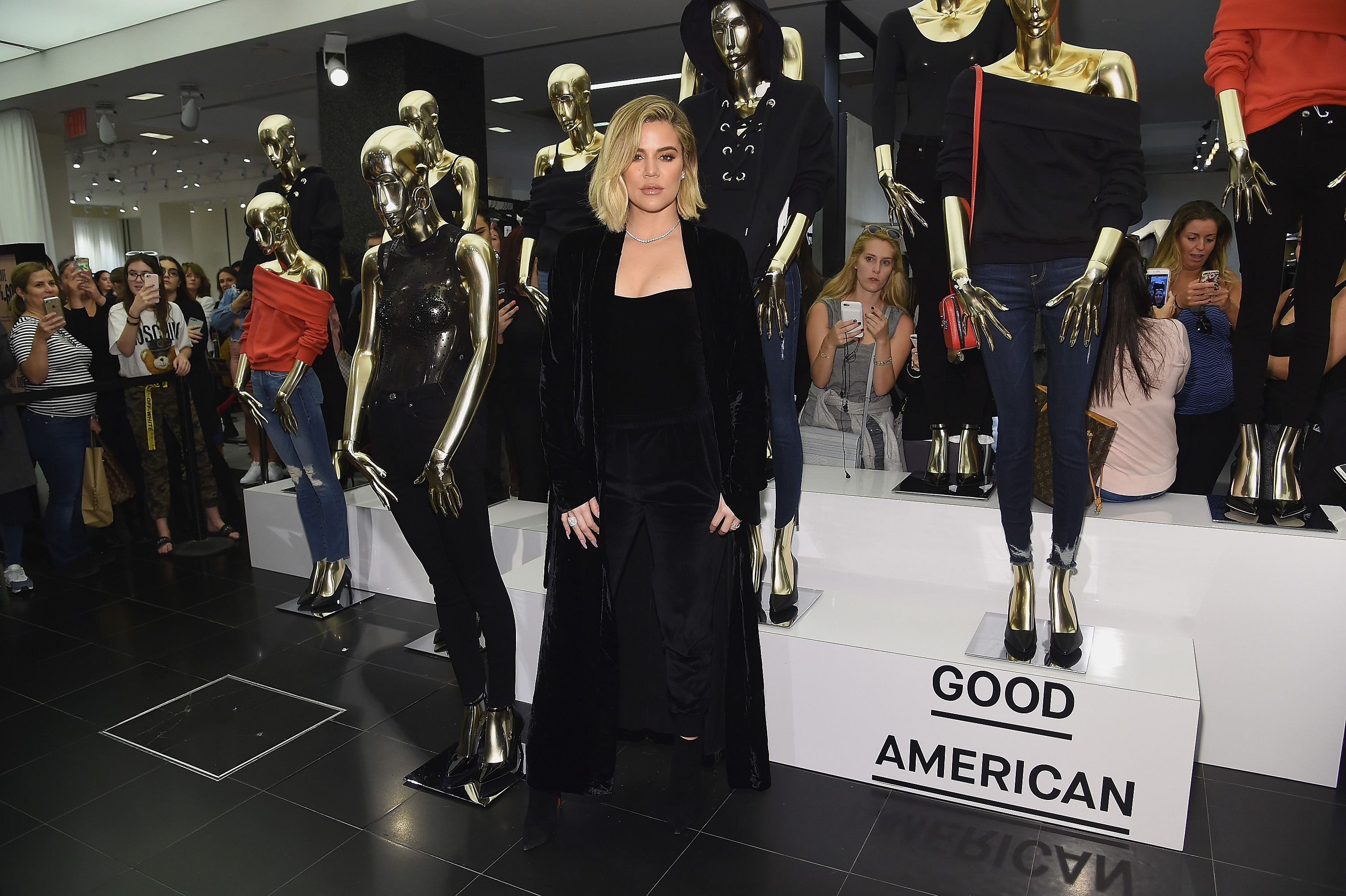Khloé Kardashian announced a Good American maternity jeans collection on Instagram