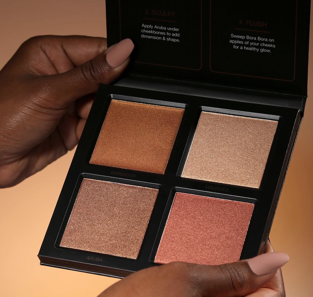 Huda Beauty's new highlighter palette was created for people with deeper skin tones