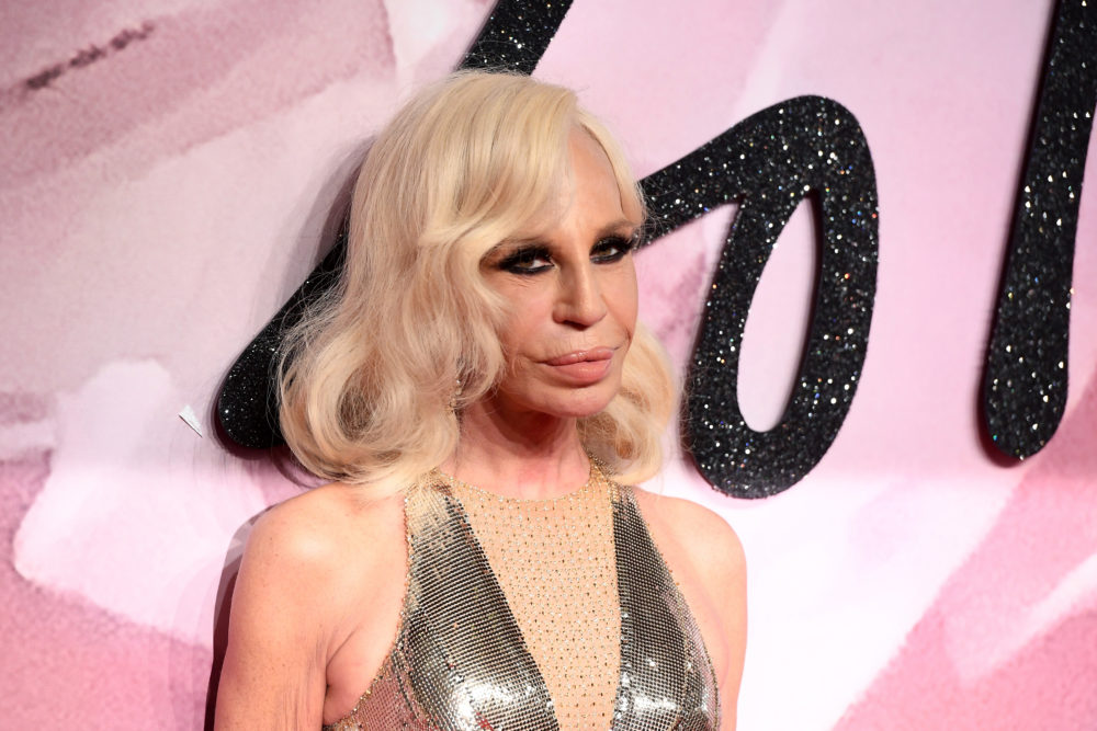 Donatella Versace's net worth is an astonishingly large amount of money in the *millions*