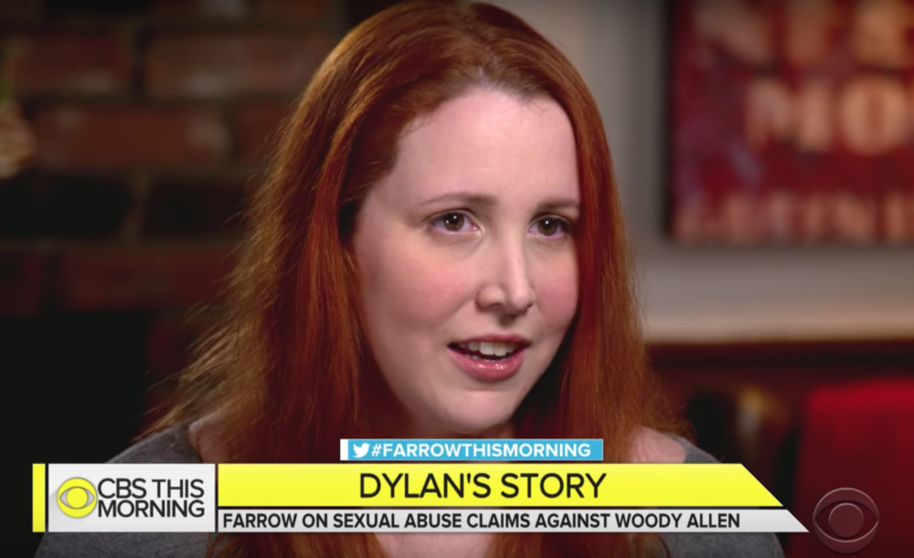 """Dylan Farrow opened up about Woody Allen on TV for the first time, saying, """"As I played with the toy train, I was sexually assaulted"""""""