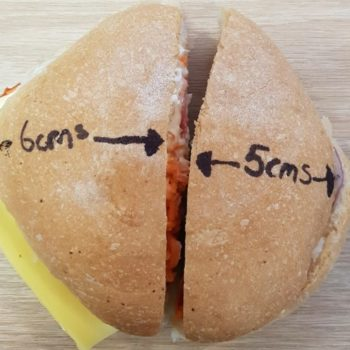This woman decided to return a sandwich because it wasn't properly cut