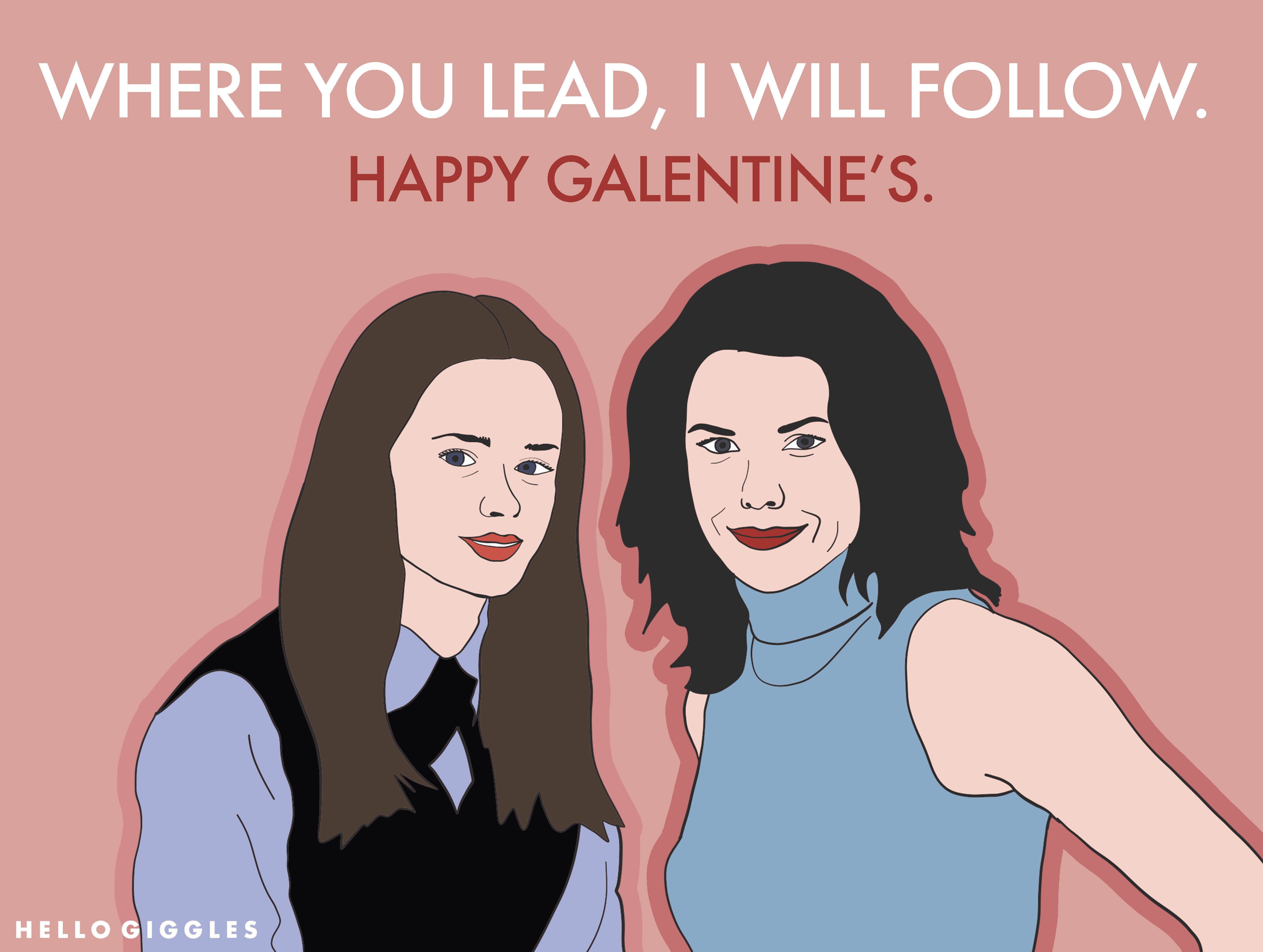 """Say """"I love you"""" with HelloGiggles downloadable Galentine's and Valentine's Day cards"""