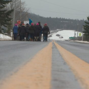 Nearly half the population of this Nova Scotia village turned out for their own 2018 Women's March