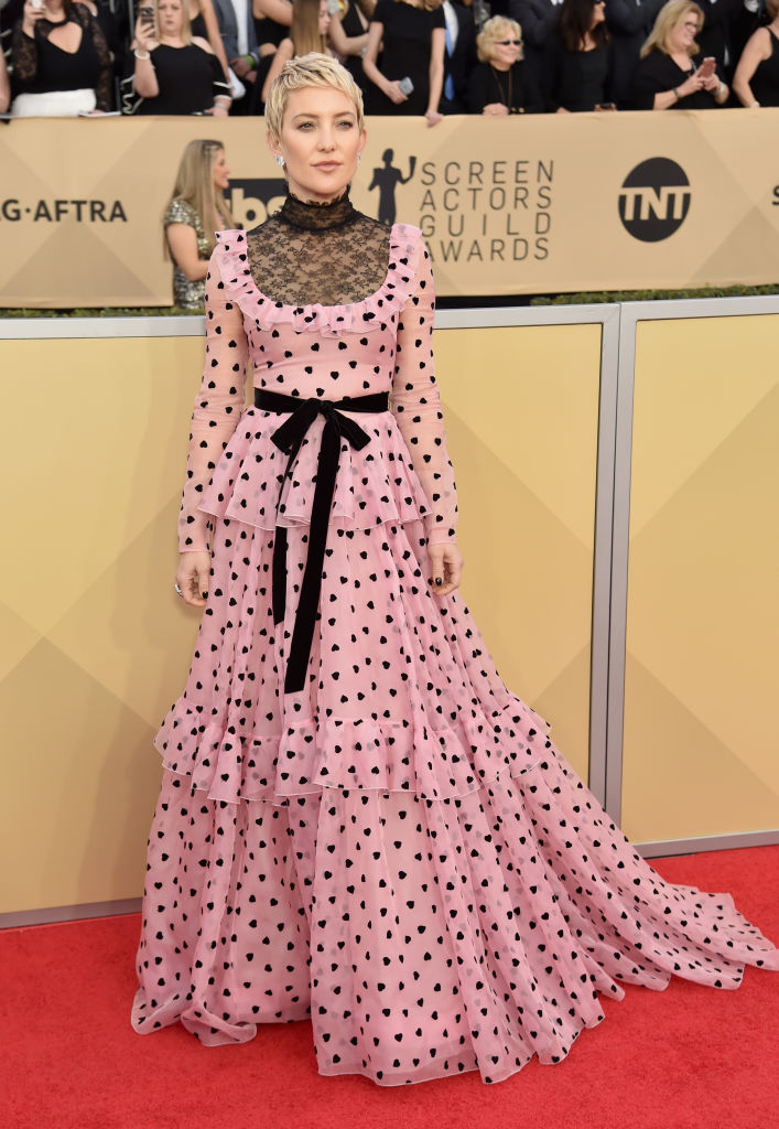 Kate Hudson Is Wearing A Colonial Polka Dot Dress At The