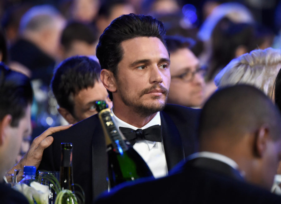 James Franco showed up to the 2018 SAG Awards, but kept a low profile