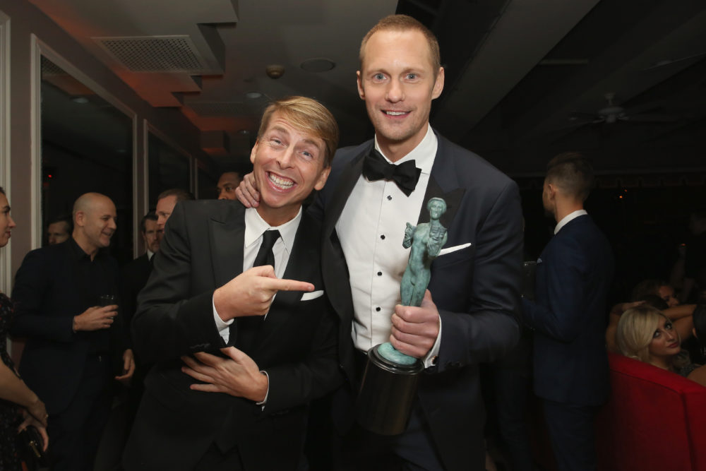 I just learned Alexander Skarsgård and Jack McBrayer are best friends, and I can't even right now