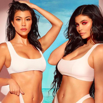 You can channel Kourtney Kardashian now, because her Kylie Cosmetics makeup collab is *finally* here