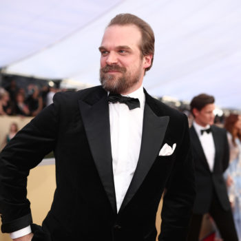 Shirtless David Harbour just accidentally did the Kylo Ren challenge, and it's making me feel things