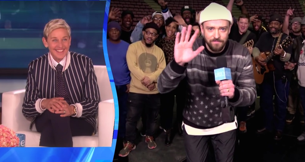 Ellen DeGeneres just got the best birthday gift from Justin Timberlake