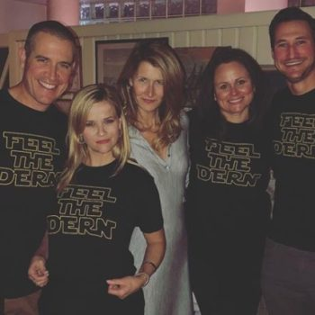 "Here's where to buy Reese Witherspoon's ""Feel the Dern"" shirt, because Laura Dern is our queen"
