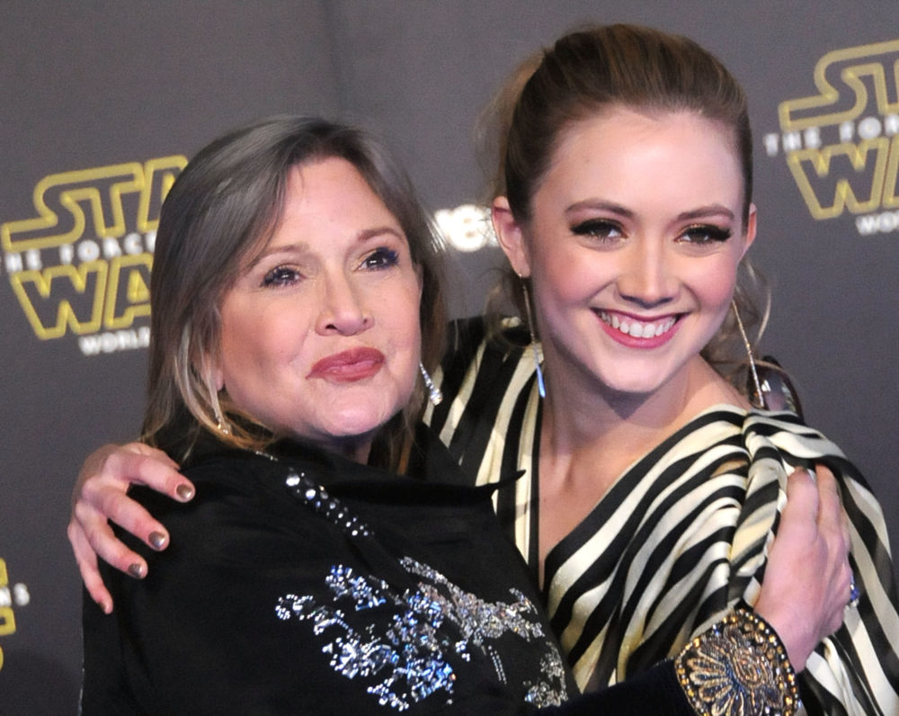 Carrie Fisher won a Grammy posthumously, and Billie Lourd's response will warm your heart