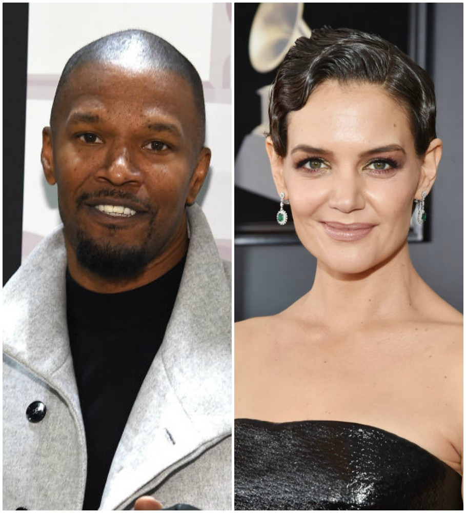 Katie Holmes and Jamie Foxx looked so in love during a rare public appearance together before the 2018 Grammys