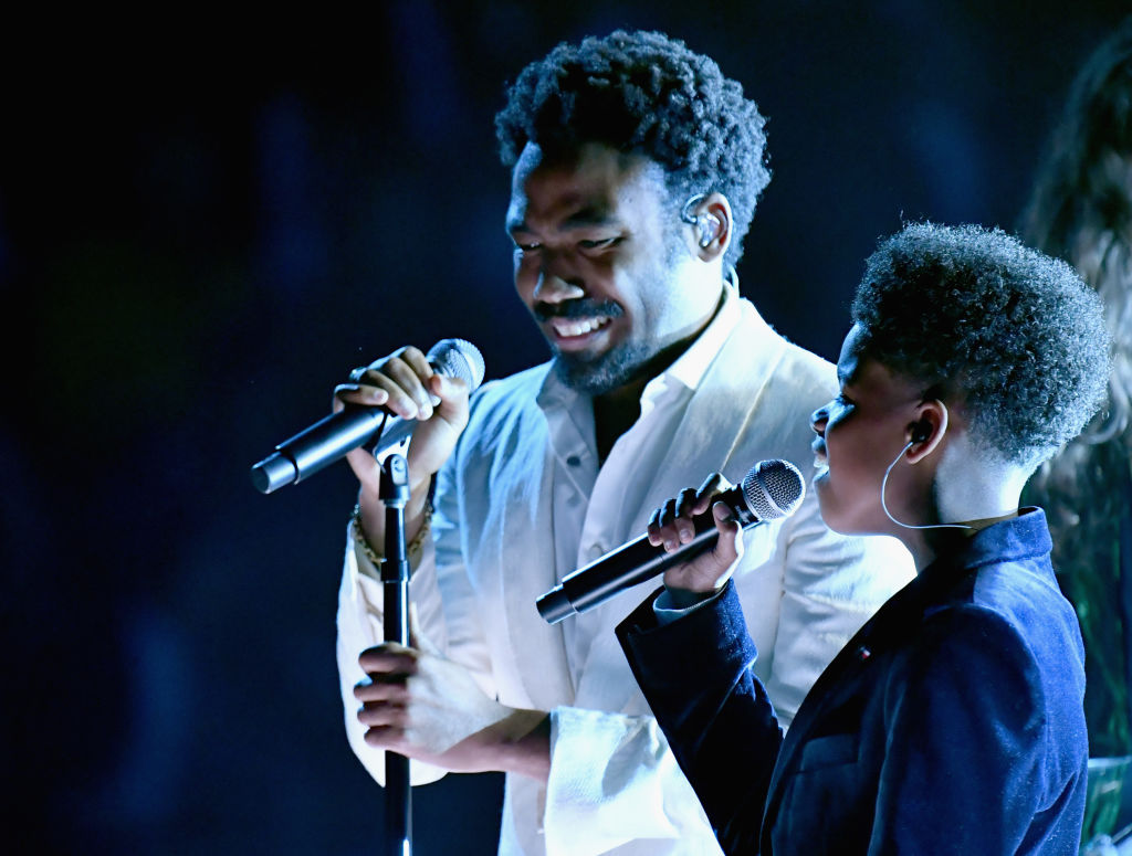 That kid Childish Gambino performed with at the 2018 Grammys is JD McCrary, who is nine freakin' years old