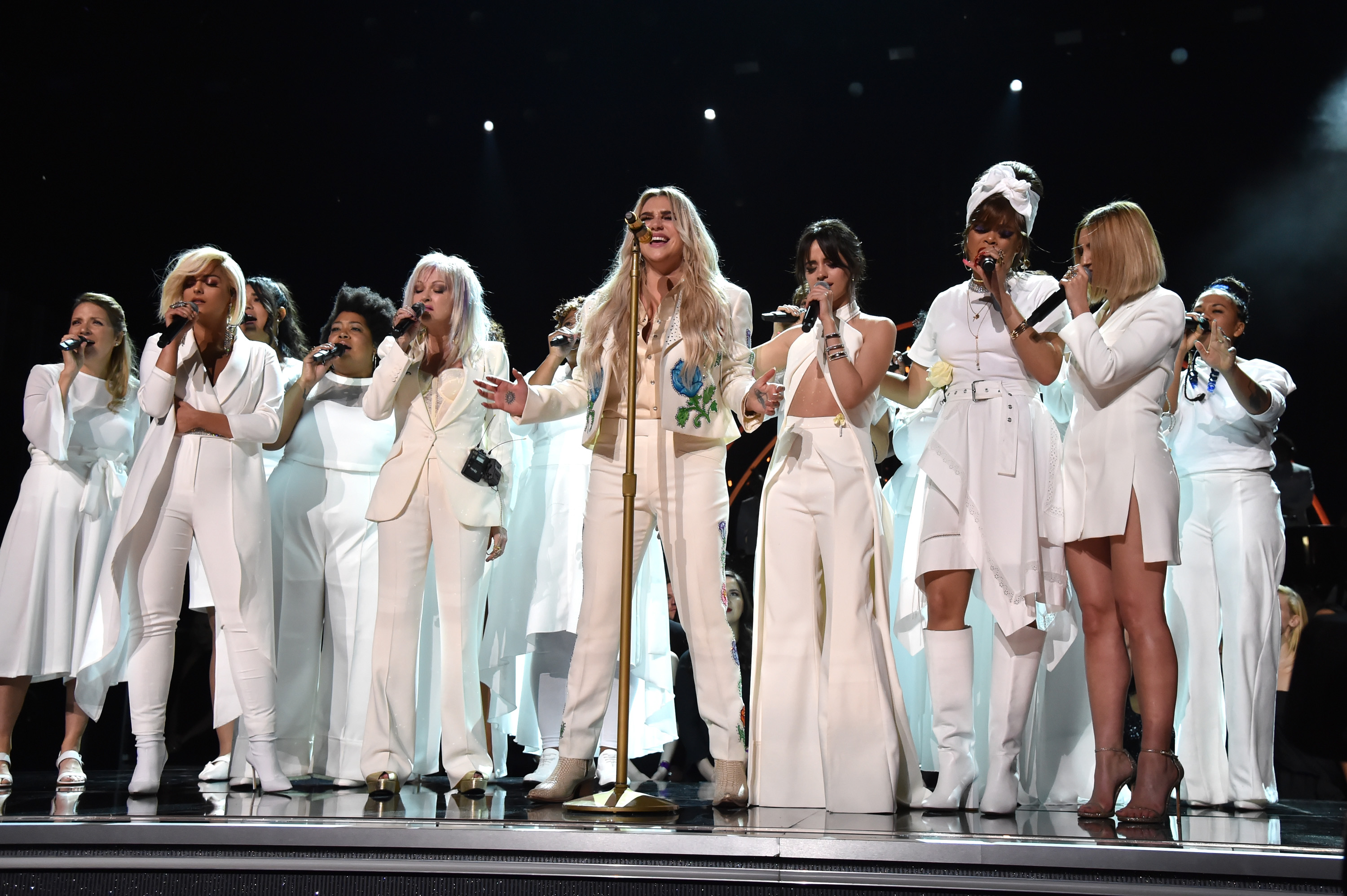 The Resistance Revival Chorus sang with Kesha at the Grammys, and gave a hella inspirational performance