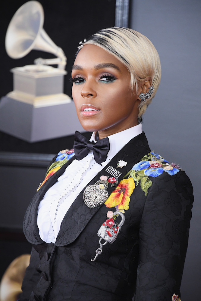 Janelle Monae Debuted Blonde Hair At The 2018 Grammys
