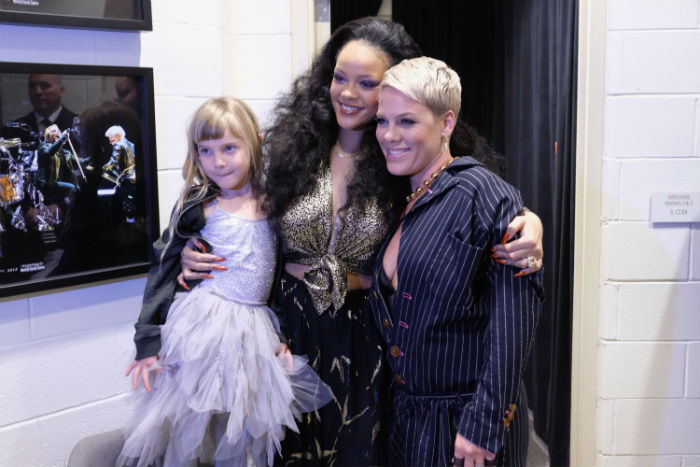 We want someone to smile at us the way Pink's daughter smiles at Rihanna
