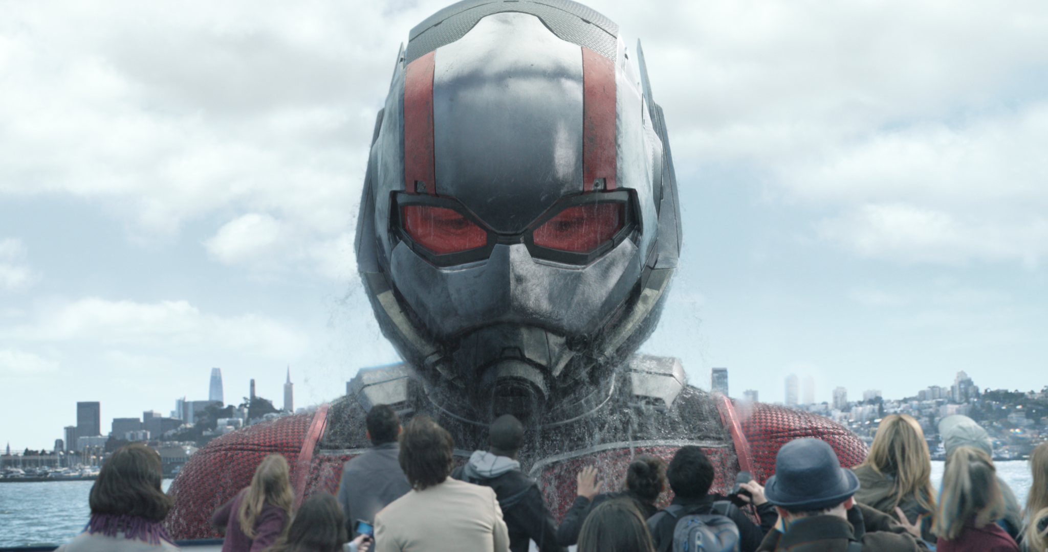 Ant-Man/Scott Lang in his Giant-Man form (Paul Rudd)                                                                  Photo: Film Frame                                                                  ©Marvel Studios 2018
