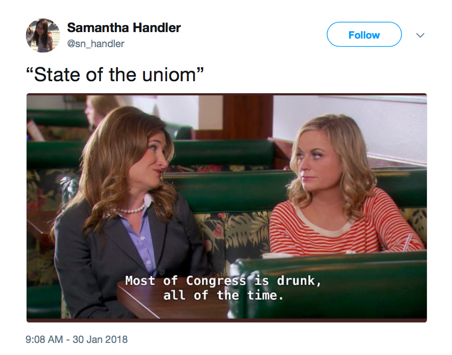 """Twitter has not forgotten about the """"State of the Uniom"""" spelling flub"""
