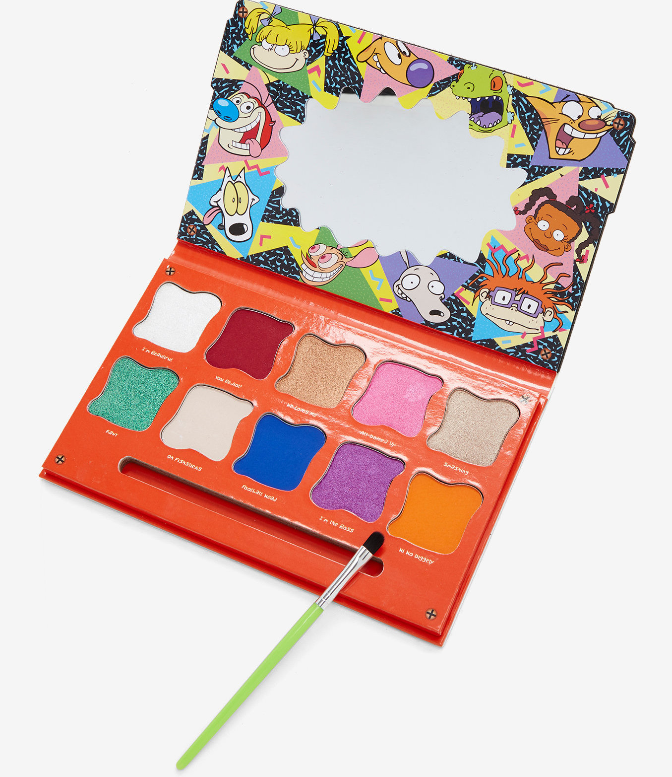 A Nickelodeon Themed Eyeshadow Palette Is Available At Hot Topic