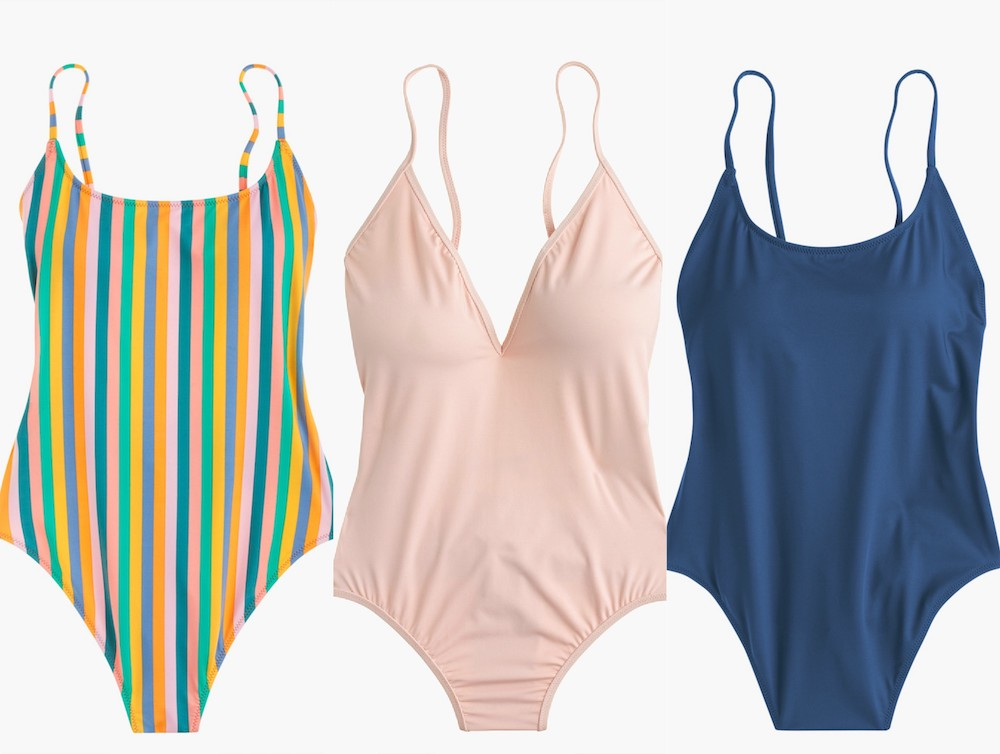 J. Crew's affordable swimsuit line is here, and we're ready to soak up the sun in these pieces