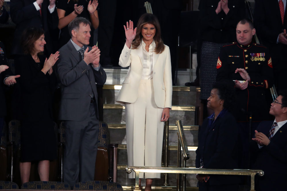 Twitter thinks Melania Trump's State of the Union outfit was a snub to the #MeToo movement