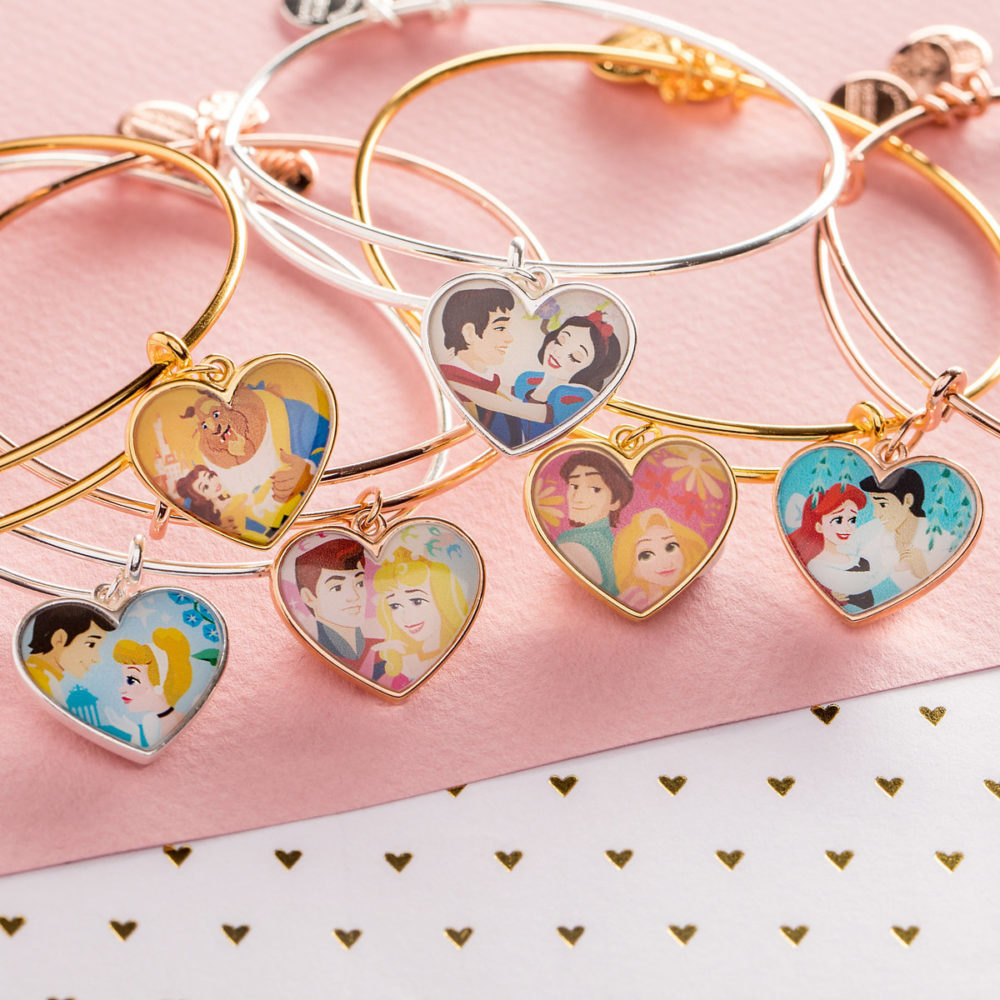 Fall in love with Alex and Ani's brand new *colorful* Disney bracelets, just in time for Valentine's Day