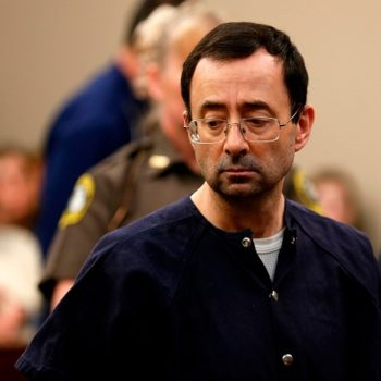 The father of three of Larry Nassar's victims just attacked him in court