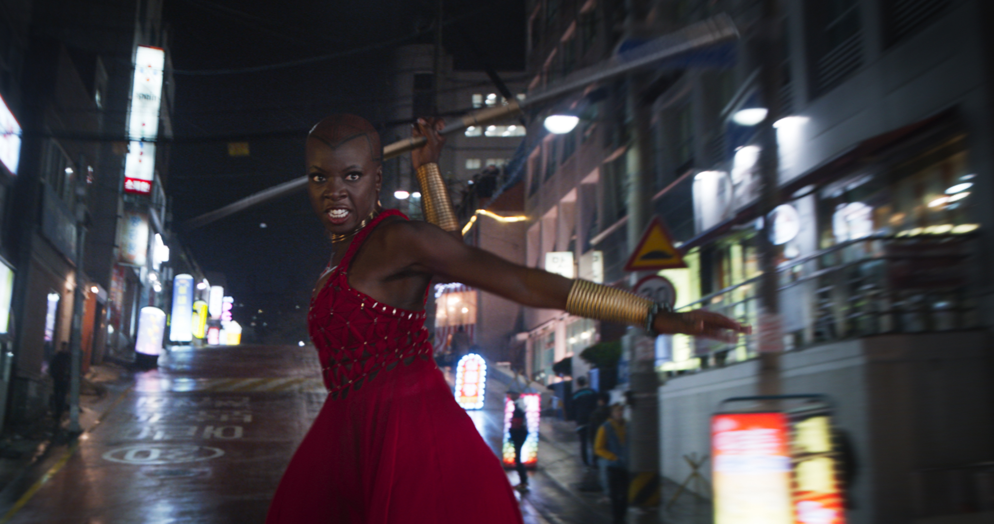 "Danai Gurira was so nervous to shave her head to play the strongest female warrior in ""Black Panther"""