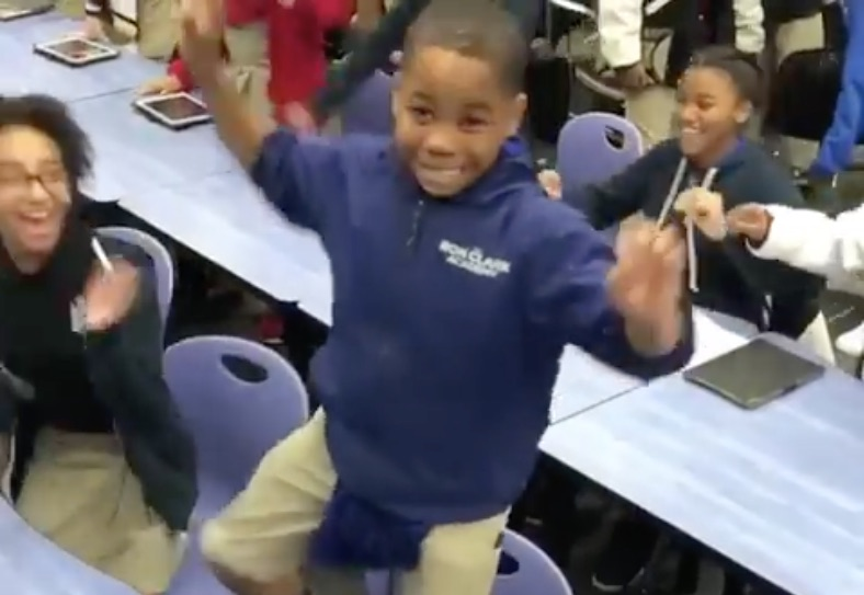 """When these students found out that they're seeing """"Black Panther"""" an epic dance party broke out"""