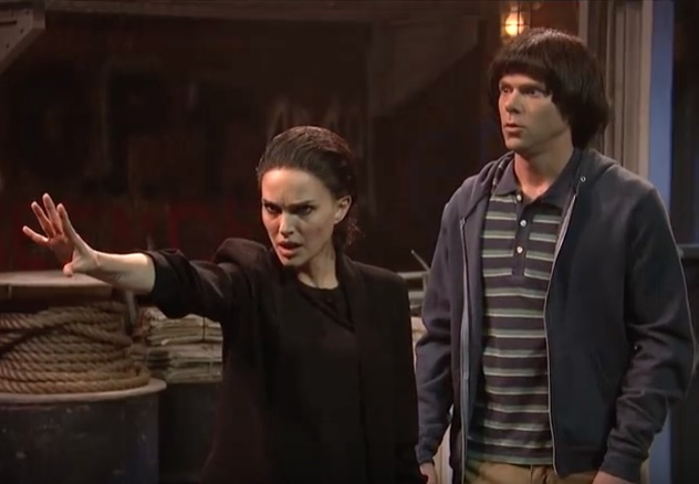 "Natalie Portman debuted her spot-on impression of Millie Bobby Brown in a ""Stranger Things"" parody on ""Saturday Night Live"""