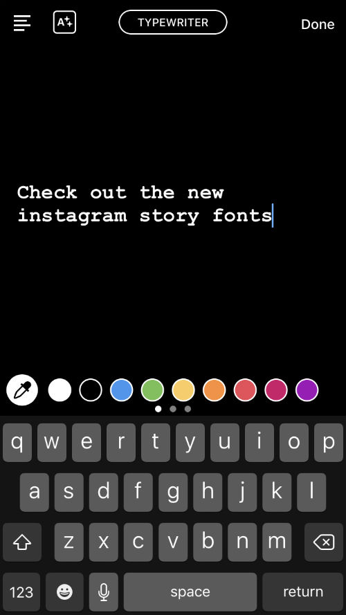 how to use all the new fonts on instagram stories