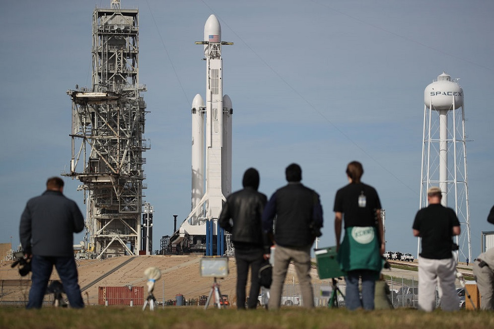 The SpaceX Falcon Heavy Rocket is launching today, and it's a big deal