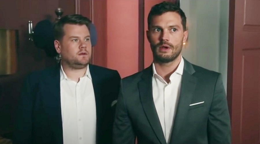 "James Corden showed Jamie Dornan his ""playroom,"" and LOL forever"