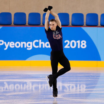 Figure skater Adam Rippon says you should focus on the Olympics, not his feud with Mike Pence