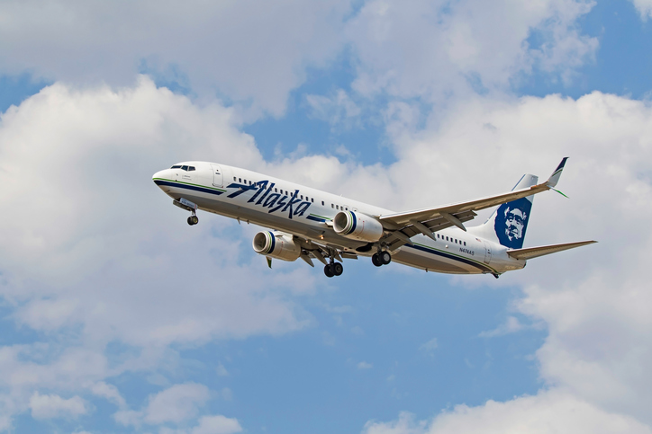A naked passenger caused an Alaska Airlines flight to turn around