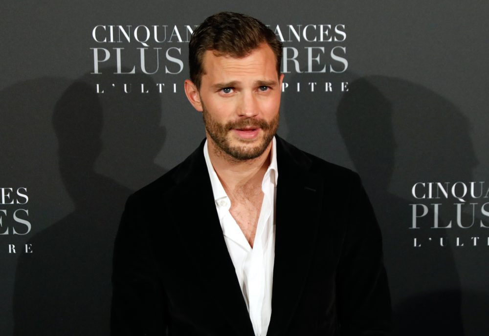 "The more you know: Jamie Dornan wore a ""wee bag"" while filming ""Fifty Shades Freed"""