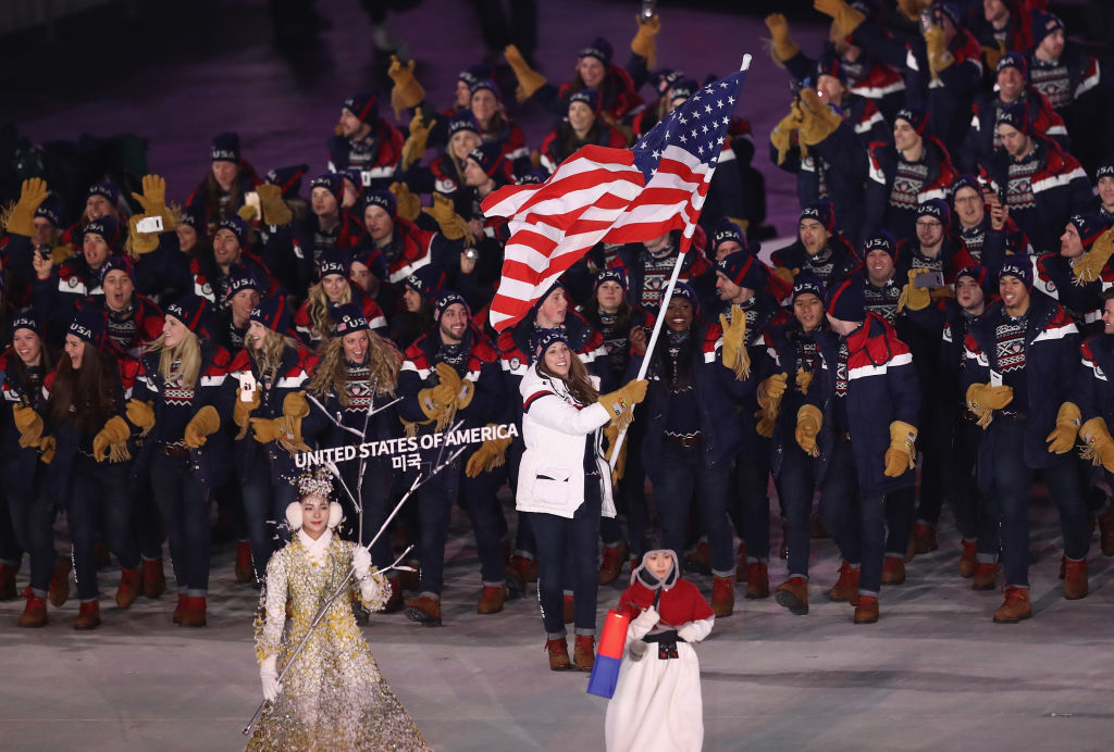 What is the order of the countries in the 2018 Olympics opening ceremony?