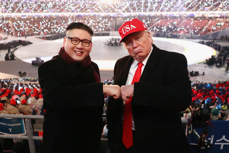 Donald Trump and Kim Jong-un impersonators are hanging out at the Olympics, and omg