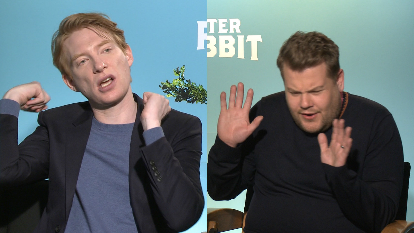 Here's who would win in a fight between James Corden and Domhnall Gleeson, because I asked