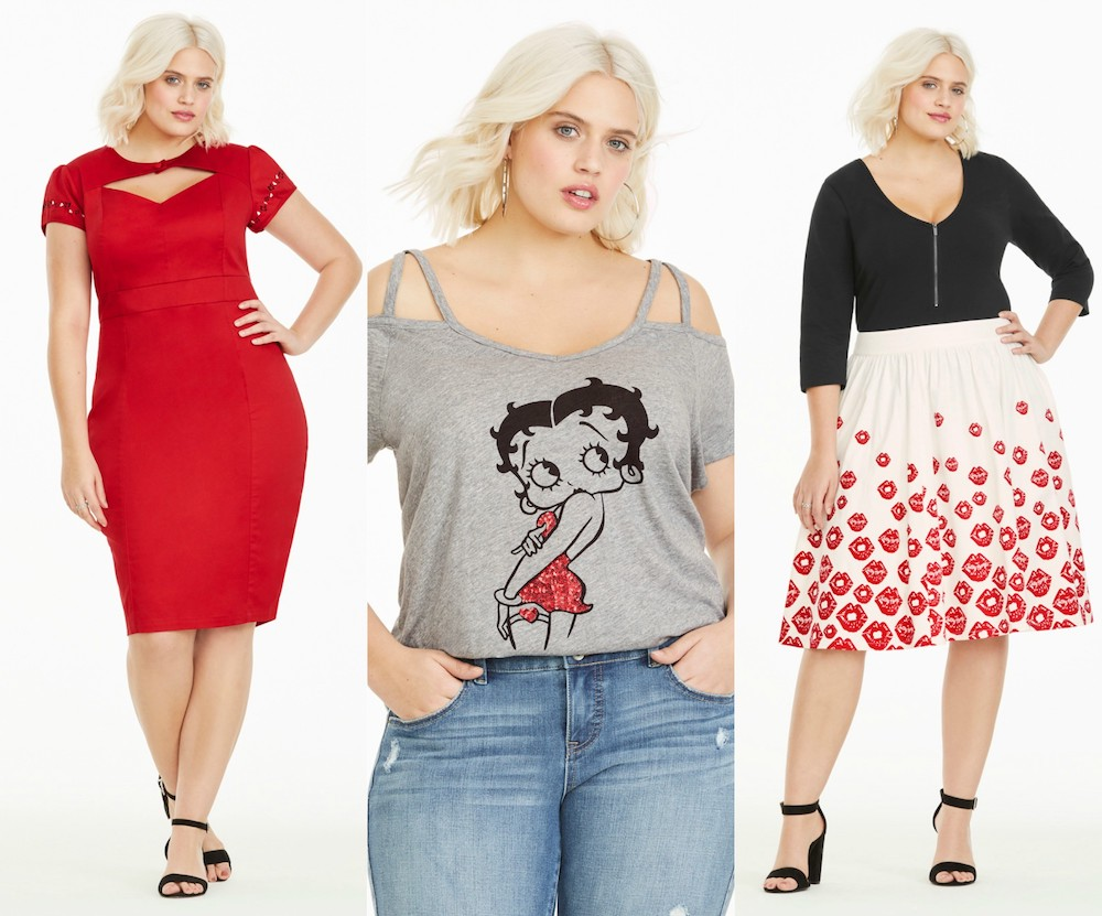 "Torrid released a plus-size Betty Boop fashion collection with ""Project Runway All Stars"""
