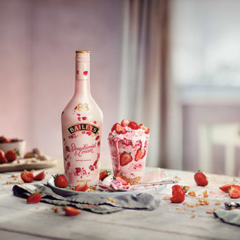 Baileys' new Strawberries & Cream liqueur is a gorgeous millennial pink, and OMG we can't wait to try it