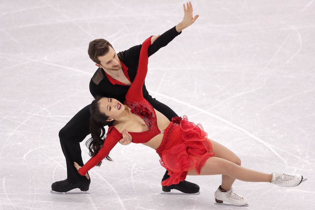 Olympic ice dancer Yura Min smiled her way through a crazy wardrobe malfunction, and just give her the gold