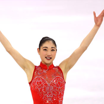 A lot of people are convinced Mirai Nagasu has a huge USA tattoo on her thigh